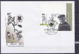 SLOVENIA 2006; FDC; Mi: Block 30; Prominent Slovenes, Father Simon Asic, Medical Herb Books - Plantes Médicinales
