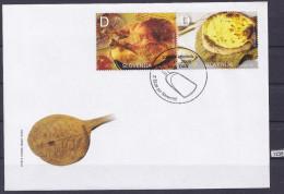 SLOVENIA 2006; FDC; Mi: 607, 608; Gastronomy, Food, Yeast Cake, Turkey - Alimentation