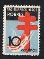 Ed. 840 Pro Tuberculosos Año 1937 Nuevo Char. - 1931-50 Nuevos & Fijasellos