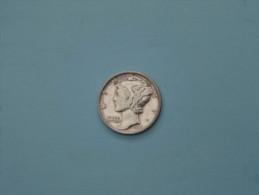 1941 S - One Dime - KM / 140 ( Uncleaned - Details Zie Foto´s ) ! - 1916-1945: Mercury (kwik)