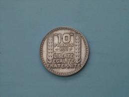 1933 - 10 Francs - KM 878 ( Uncleaned - Details Zie Foto´s ) ! - France