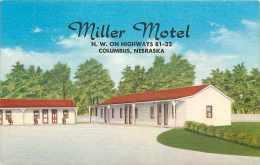 225691-Nebraska, Columbus, Miller Motel, Highways 81-22, Linen Postcard, Mid-State Spec No 19,712F - Columbus