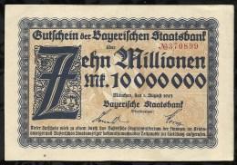 ALLEMAGNE .  BILLET DE 10 MILLION EN MARK . 1923 . - [ 3] 1918-1933 : Weimar Republic