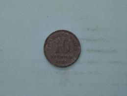 1921 - 10 Pfennig - KM 20 ( Uncleaned - Details Zie Foto´s ) ! - [ 2] 1871-1918 : German Empire