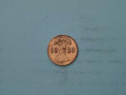 1929 D - 1 Reichspfennig - KM 37 ( Uncleaned - Details Zie Foto´s ) ! - [ 3] 1918-1933 : Weimar Republic