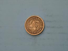 1935 A - 10 Reichspfennig - KM 40 ( Uncleaned - Details Zie Foto´s ) ! - 10 Reichspfennig