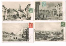 Bourbonne Les Bains En 1830-   Lot De 9 Cartes Entre 1907 Et 1910-toutes écrites Et Timbrées - Voir Scans - Bourbonne Les Bains