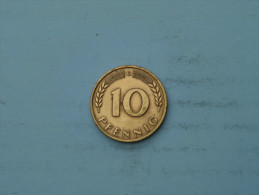 1949 G - 10 Pfennig - KM 103 ( Uncleaned - Details Zie Foto´s ) ! - 10 Pfennig
