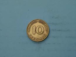 1949 G - 10 Pfennig - KM 103 ( Uncleaned - Details Zie Foto´s ) ! - [ 7] 1949-… : FRG - Fed. Rep. Germany