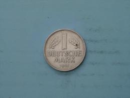 1961 J - 1 Mark - KM 110 ( Uncleaned - Details Zie Foto´s ) ! - [ 7] 1949-… : FRG - Fed. Rep. Germany