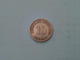 1900 A - 10 Pfennig - KM 12 ( Uncleaned - Details Zie Foto´s ) ! - [ 2] 1871-1918 : Empire Allemand