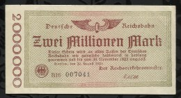 ALLEMAGNE .  BILLET DE 2 MILLION EN MARK . 1923 . - [ 3] 1918-1933 : Repubblica  Di Weimar