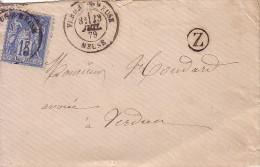 MEUSE - VERDUN S MEUSE - LE 23 JUILLET 1879 + BOITE RURALE Z  (non Située). - 1877-1920: Periodo Semi Moderno