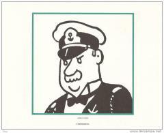 """Tiré à Part HERGE Et Tintin Kuifje : Commandant Du """"Washington"""" Dans L'oreille Cassée - Hergé"""