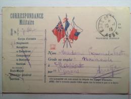 Correspondance Militaire, Franchis Postale, Envoyée à Massat Ariège - War 1914-18