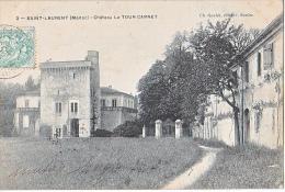 24022- Vins Bordeaux 33 France Vin -Saint Laurent Médoc Chateau Tour Carnet - éd Goulée Soulac - Vignes
