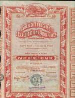 DECO : STE FRANCAISE D´EXPLOITATIONS AURIFERES   ( P.B ) - Miniere