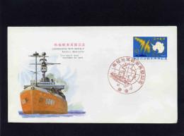 MARCOPHILIE POLAIRE-enveloppe Antartic Expedition -JAPON  N° 819-  1965--BATEAUX - Stamps