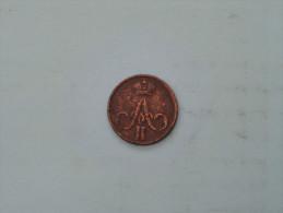 1855 EM - 1/2 Kopek  Y# 2.1 ( Uncleaned - For Grade, Please See Photo ) ! - Russie