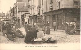 37 - TOURS,  MARCHE (AUX LEGUMES SECS - AVANT 1905) - RUE CHÂTEAUNEUF - Tours