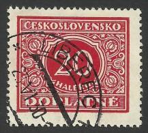 Czechoslovakia, 20 H. 1928, Sc # J60, Mi # 57, Used - Postage Due
