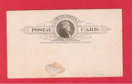 USA  ///  Entier Postal  //   1  Cent   //  Vierge   //