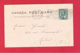 CANADA  //  Entier Postal  //   1 Cent  //   3 Mai 1910 - 1903-1954 Rois
