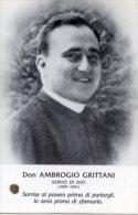 Santino SERVO DI DIO DON AMBROGIO GRITTANI Con RELIQUIA Ex INDUMENTIS - PERFETTO G83 - Religion & Esotérisme