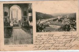 57 Sierck  - Intérieur De La Chapelle College - Vue Prise Du Fort  - Cpa 2 Vues - Autres Communes