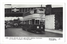 10472 -  Tram Route 40 AT Golders Green Station A London Transport Photograph - Brighton