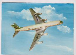 CPM DC8 DE LA CIE TRANSPORTS AERIENS INTERCONTINENTAUX En 1961!! - 1946-....: Moderne