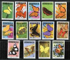 (cl 30 - P46) Dominique ** N° 1295 à 1308 - Papillons - - Dominica (1978-...)