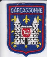 ECUSSON TISSU BRODE CARCASSONNE AUDE  BLASON HERALDIQUE ARMES - Ecussons Tissu