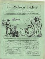 LE PECHEUR FEDERE Revue De La Federation Des Pecheurs Des Bassins De CHARLE   N° 3 Novembre 1955               20 Pages - Journaux - Quotidiens