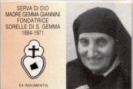 Santino Plastificato SERVA DI DIO MADRE GEMMA GIANNINI Con RELIQUIA Ex INDUMENTIS - PERFETTO G83 - Religion & Esotérisme