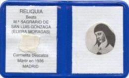 Santino Plastificato BEATA M. SAGRARIO DE SAN LUIS GONZAGA (Elvira Moragas) Con RELIQUIA Ex INDUMENTIS - PERFETTO G83 - Religione & Esoterismo