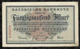 ALLEMAGNE .  BILLET DE 50.000  MARK . 1923 . - [ 3] 1918-1933 : Weimar Republic