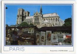 Paris - La Cathédrale Notre-Dame - Les Bouquinistes - 1991 éd. Chantal - Utilisée Pour Concours - 2 Scans - Notre Dame De Paris