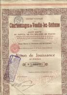 VENDIN LEZ BETHUNE  Compagnie des CHARBONNAGES de Vendin lez Bethune  action de jouissance n� 07310  1.09.1917