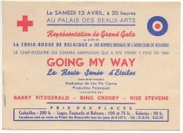 Carte Publicité. Gala Croix Rouge & Aéro Club De Belgique. Cinéma Au Palais Des Beaux Arts. - Croix-Rouge