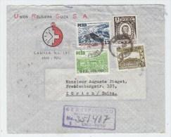 Peru/Switzerland ADVERTISING COVER 1951 - Peru