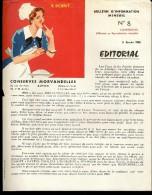 """DOCUMENT PUBLICITAIRE ILLUSTRÉE """" CONSERVES MORVANDELLES """" - Alimentare"""