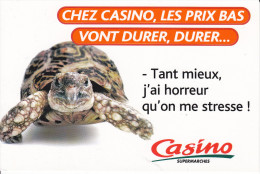 CPM TORTUE PUB PRIX BAS VONT DURER CASINO 1999 - Schildpadden