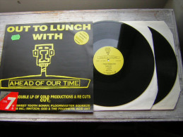 33 T 2 LP OUT TO LUNCH WITH A HEAD OF OUR TIME DOUBLE VINYL 1ER PRESSAGE? A HOT1 4U 1988 BIG LIFE MUSIC MADE IN ENGLAND - Dance, Techno & House