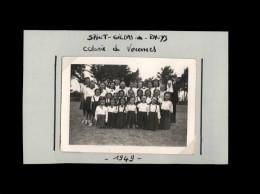 56 - SAINT-GILDAS-DE-RHUYS - Petite Photo - Colonie De Vacances - 1949 - Lieux