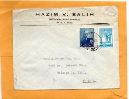 Turkey Old Cover Mailed To USA - 1921-... République