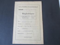 Freier Deutscher Gewerkschaftsbund Verband Lehrer U. Erzieher. 1946. Rabattmarken. Mitgliedskarte - 1900 – 1949