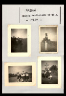 56 - AMBON - 4 Petites Photos - Colonie De Vacances - 1950 - Lieux