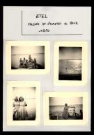 56 - ETEL - 7 Petites Photos - Colonie De Vacances - 1950 - Lieux