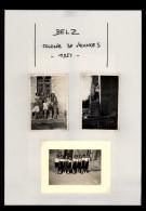 56 - BELZ - 7 Petites Photos - Colonie De Vacances - 1951 - Lieux